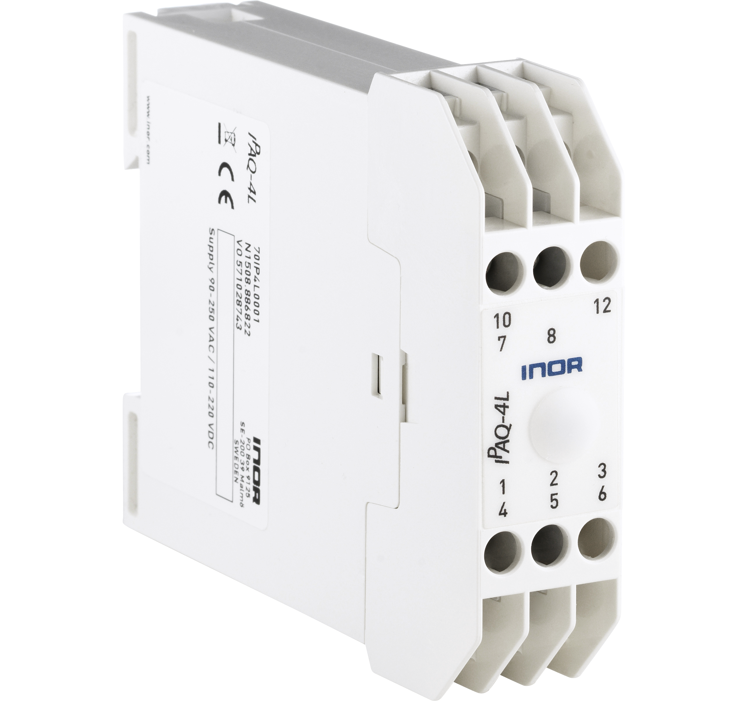 IPAQ-4LFully universal, DIN-rail, PC-programmable, isolation 4000 V, power supply 90-250VAC /110-220VDC